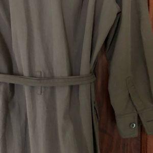 J. Crew Dresses - jcrew army green shirt dress size 4p